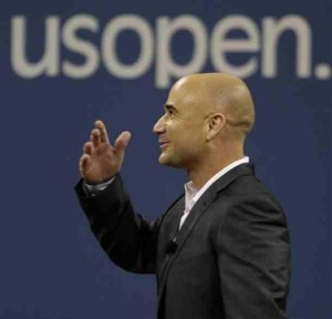 Andre Agassi honored at US Open